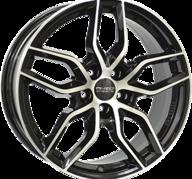 "18"" ANZIO SPARK - Gloss Black / Polished 8x18 - ET45"