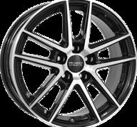 """18"""" ANZIO SPLIT - Gloss Black / Polished 8x18 - ET45"""