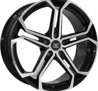 "20"" SOLEIL LXS1 - Black Metallic / Polished 10x20 - ET50"