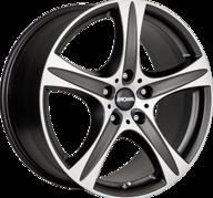 "18"" RONAL R55 SUV - Dull Black / Polished 8,5x18 - ET45"