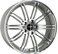 "18"" MONACO CHICANE - Hyper Silver / Polished 8,5x18 - ET35"