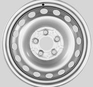 """16"""" KRONPRINZ STEEL STAAL - Silver 6x16 - ET54"""