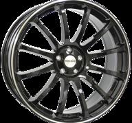 "22"" MONACO MASSENET - Gloss Black / Polished 9,5x22 - ET30"
