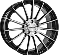 "18"" MONACO FORMULA - Gloss Black / Polished 8x18 - ET30"