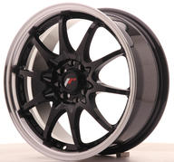 "16"" JAPAN RACING JR5 GLOSSY BLACK"