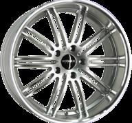 "18"" MONACO CHICANE - Hyper Silver / Polished 8,5x18 - ET45"