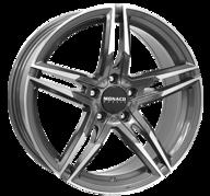 """18"""" MONACO GP1 - Anthracite / Polish 8x18 - ET30"""