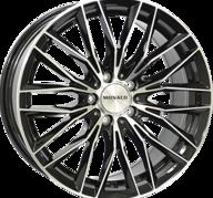 "18"" MONACO GP2 - Gloss Black / Polished 8x18 - ET42"