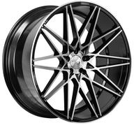 "20"" 1AV WHEELS - ZX4 - BLACK POLISHED FACE"