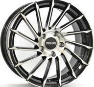 "19"" MONACO TURBINE - Gloss Black / Polished 8,5x19 - ET45"