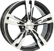 "20"" MONACO GP4 - Gloss Black / Polished 8,5x20 - ET30"