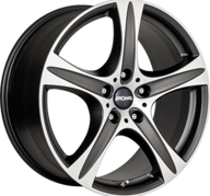 "17"" RONAL R55 SUV - Dull Black / Polished 7,5x17 - ET45"