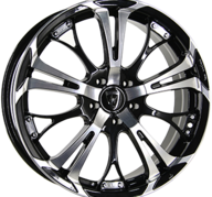 "17"" INTER ACTION POISON - Gloss Black / Polished 7x17 - ET42"