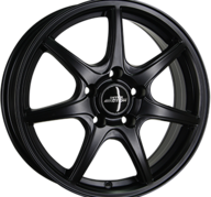 "17"" INTER ACTION BLACK ICE - Dull Black 7x17 - ET45"