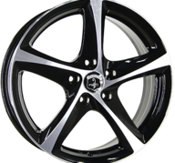 "17"" INTER ACTION TORNADO - Gloss Black / Polished 7x17 - ET42"