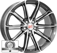 "17"" MILLE MIGLIA M1007 - Anthracite Dark / Polished 7,5x17 - ET40"