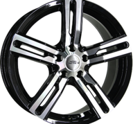 "17"" INTER ACTION KARGIN - Gloss Black / Polished 7,5x17 - ET45"