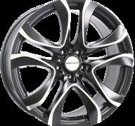 "18"" MONACO BEAU RIVAGE - Dull Black / Polished 8x18 - ET35"