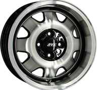 "18"" ATS CUP - Gloss Black / Polished 8x18 - ET41"