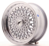 "15"" JAPAN RACING JR9 SILVER + SILVER RIVETS"