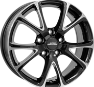 "18"" INTER ACTION PULSAR - Gloss Black / Polished 8x18 - ET40"