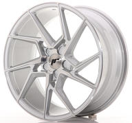 "19"" JAPAN RACING JR33 SILVER MACHINED"